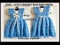 Crochet a Sundress or Jumper, 3 to 6 months, Free pattern #1122yt, crochet baby dress