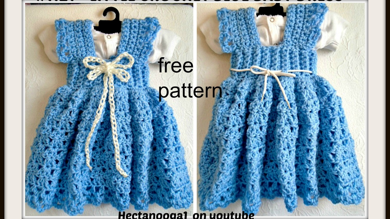 Crochet a Sundress or Jumper, 3 to 6 months, Free pattern #1122yt ...