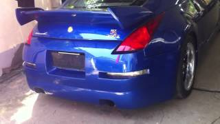 tans 350z with proracer 5zigen exhaust