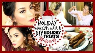 Holiday Makeup, Hair + DIY Holiday Treats! ❄ Thumbnail