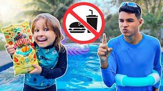 REGRAS DE CONDUTA para CRIANÇAS na PISCINA  Rules of Condut for Children | Gatinha das Artes