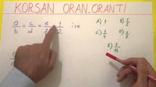 Korsan Yolla Oran Orantı - şenol Hoca Şenol Hoca Matematik