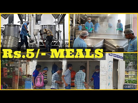 Rs.5/- Meals in Hyderabad | [Massive Food Preparation to 50,000 People, Hyderabad] l Chai Bisket