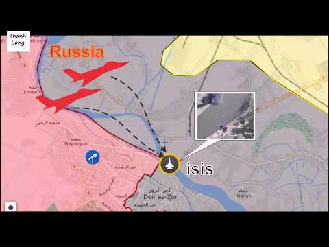 [ Syria ][ Deir Ezzor ] Russian Air Force massive strikes along the banks of the Euphrates