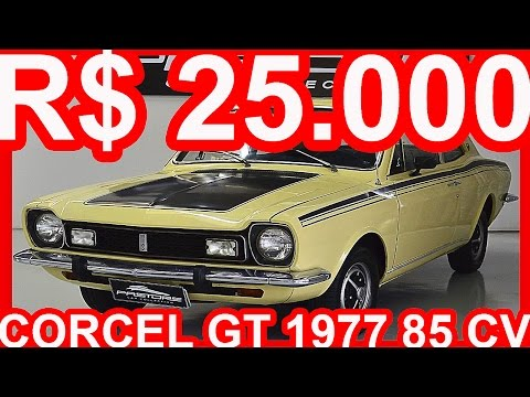 PASTORE R$ 25.000 Ford Corcel GT 1977 Areia Casablanca aro 13 MT4 FWD 1.4 85 cv 11,5 mkgf #Ford