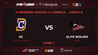 Digital Chaos vs Elite Wolves, StarSeries 13 America, Game 1