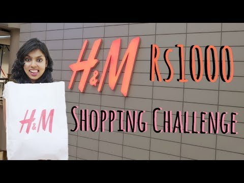Rs 1000 H&M Shopping Challenge - H&M Store Shopping Haul -  | AdityIyer #adityvlogs