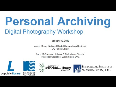 Personal Archiving: Digital Photography