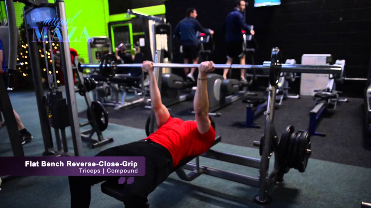 Flat Bench Press Close Grip Reverse Grip For Triceps Youtube