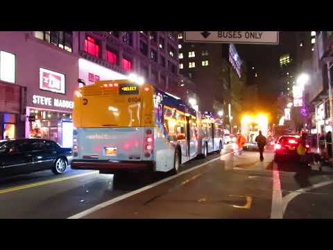 NYC Bus: Waterside bound XD60 6104 M34A SBS at 34 St/Broadway