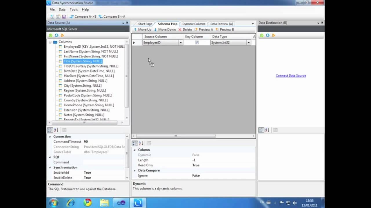 Data Sync 3 0 - Dynamic Columns Demo