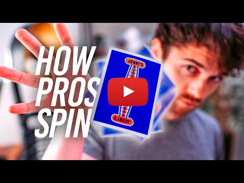 HOW TO PRO CARD SPIN (Easy Fidget Tutorial)