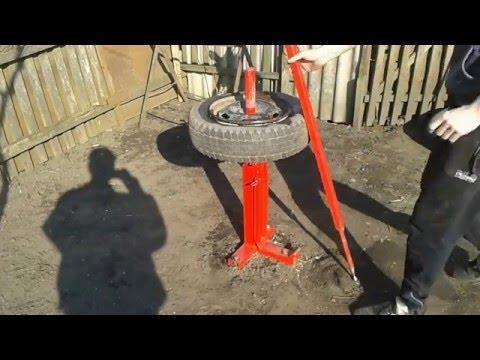 Шиномонтаж своими руками. Ручной шиномонтажный станок. Homemade Manual Tire Changer