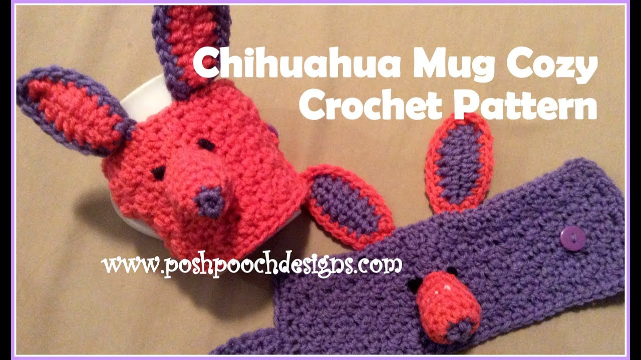 Chihuahua Mug Cozy Crochet Pattern Youtube