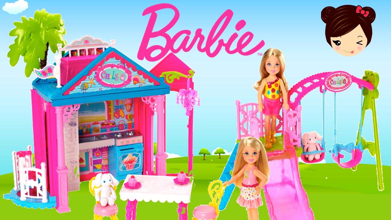 Barbie casa club de chelsea y parque de juegos juguetes for Casa de juguetes para jardin