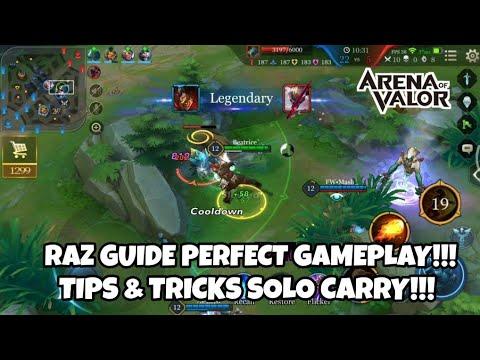 RAZ BEST GUIDE TEACHING GAMEPLAY! (TIPS & TRICKS) - Arena of Valor Indonesia