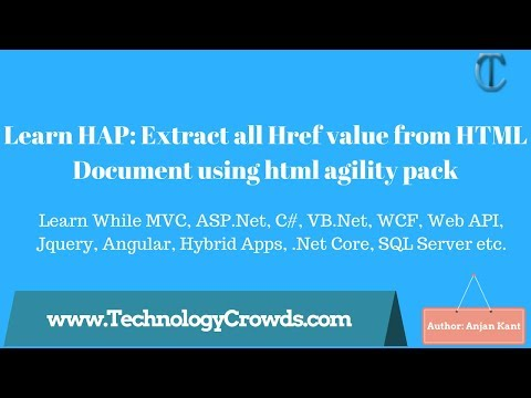 Learn HAP: Extract All Href Value From HTML Document Using Html Agility Pack