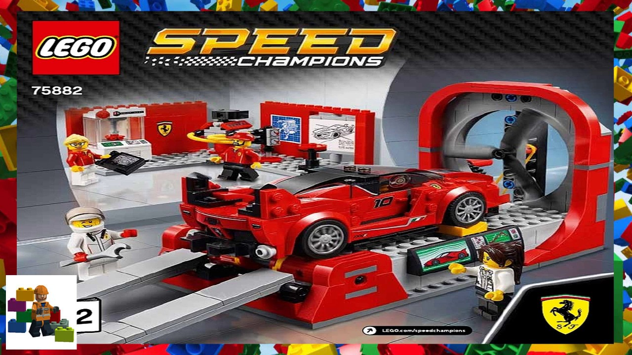 lego instructions speed champions 75882 ferrari fxx. Black Bedroom Furniture Sets. Home Design Ideas