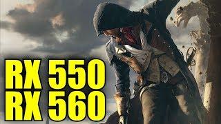 Assassins Creed Unity RX 550 2GB & RX 560 4GB OC | 1080p - 900p & 720p | FRAME-RATE TEST