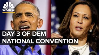 VP nominee Kamala Harris and Barack Obama speak at Democratic National Convention — 8/19/2020