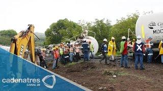 Se descarrila tren cargado de ácido sulfúrico en Nogales, Sonora