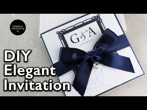 DIY Wedding Invitations | How to make your own wedding invitation with a Swarovski crystal