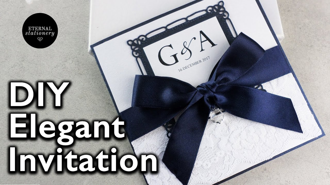 DIY Wedding Invitations How to make your own wedding invitation
