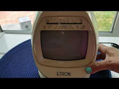 Portable Black & White Television Etron model BTV-808  TV AM FM