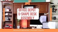 Realspace Broadstreet Contoured U-Shaped Desk Assembly timelapse video
