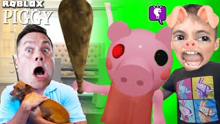 ROBLOX PIGGY but in our House can we Escape with our Puppy