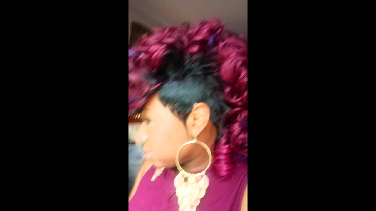Mohawk Hairstyle Quick Weave Youtube