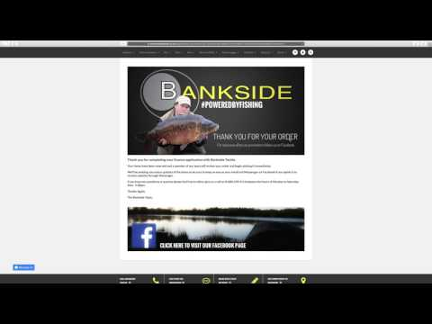 V12 Retail Finance Application on Carp Fishing Superstore www.banksidetackle.co.uk