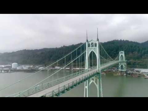 Flying Around St Johns Bridge