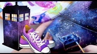 77a2a6bef48d2b Tutorial Hand Painted Converse Cinderella Custom Hightops - ViYoutube