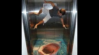 3D Creative Elevator Arts