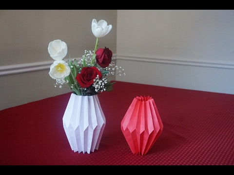 How to make paper vase sleeve youtube mightylinksfo