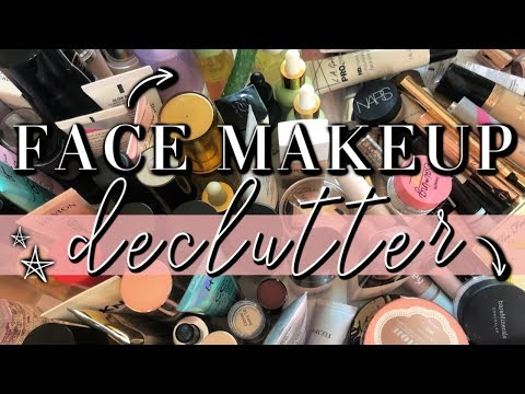 FACE MAKEUP DECLUTTER // Why I Won't Accept PR Anymore... thumbnail