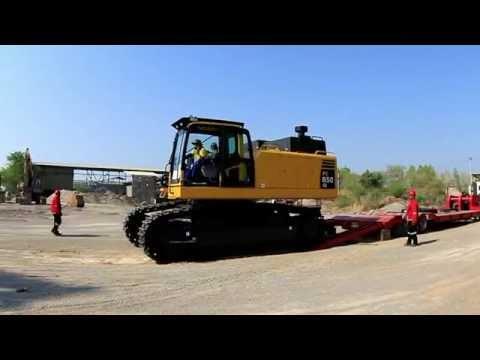 PMT, คาราวานขนส่งรถแบคโฮว Komatsu PC850se ยักษ์ใหญ่ 85 ตัน