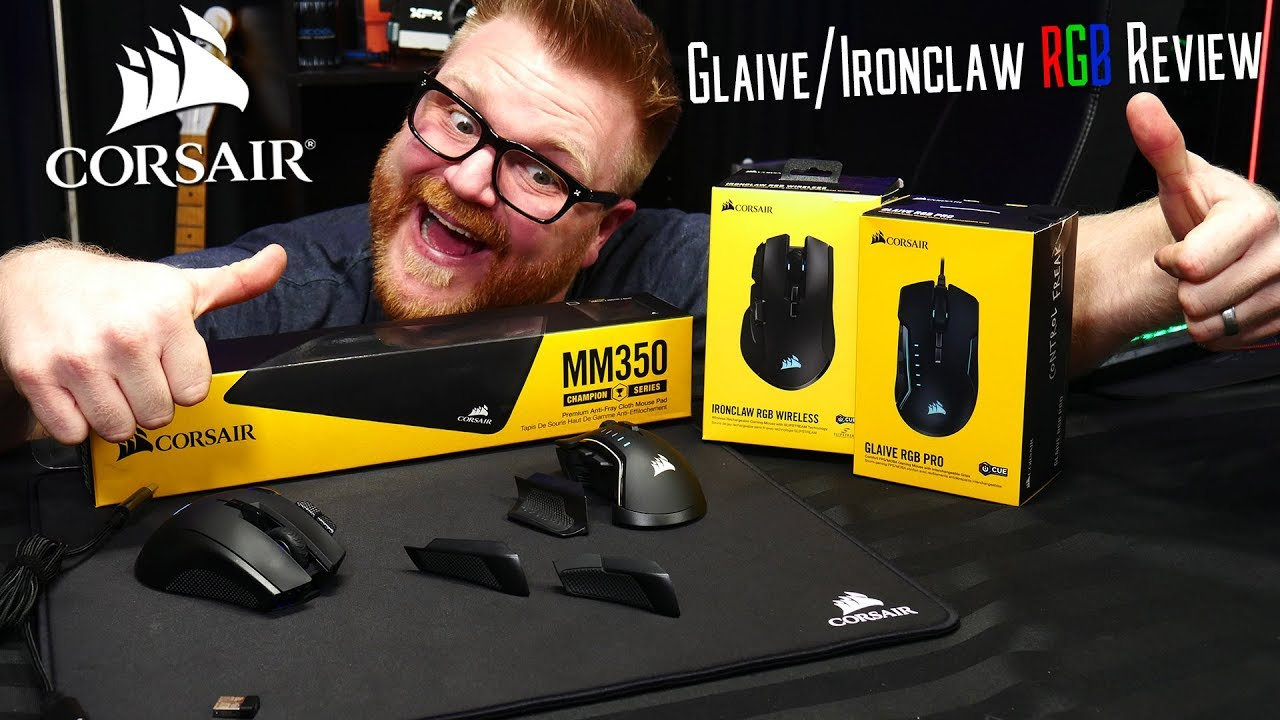 Download : Corsair Glaive Pro + Ironclaw Wireless RGB Mice