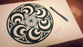 Doppler Effect Mandala ❉ How To Draw Geometric Art