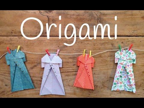 Origami fácil para niños paso a paso, descubre cómo hacer unos abrigos muy monos