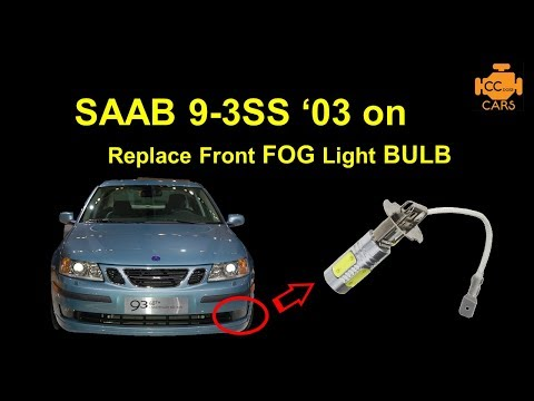 How to Change Replace Saab 9-3 SS 03on Front Fog Light Bulbs #saabworld