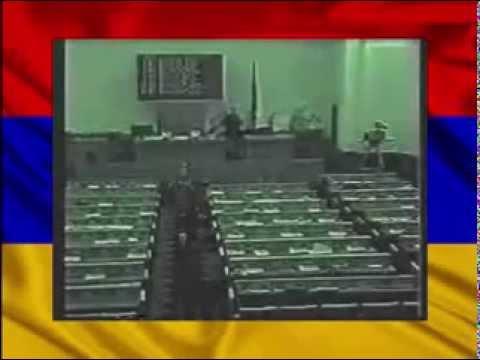Кадры расстрела армянского парламента 27 октября 1999 года