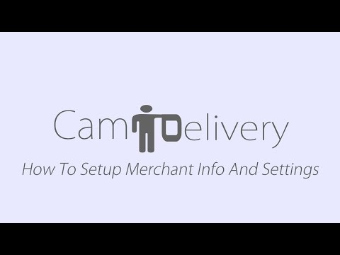 How to setup Merchant Info and Settings - Order food online Phnom Penh