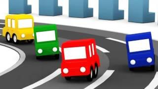 Lehrreicher Zeichentrickfilm - Die 4 kleinen Autos - Die neue Rennstrecke