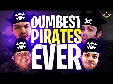 DUMBEST PIRATES EVER! COURAGE/TIM/LUPO/MARCEL FIGHT A MEGALADON! (Sea Of Thieves)