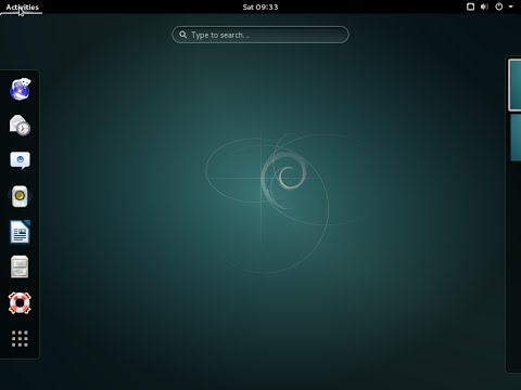 Linux Debian 8 GNOME 64bit. Install and overview.