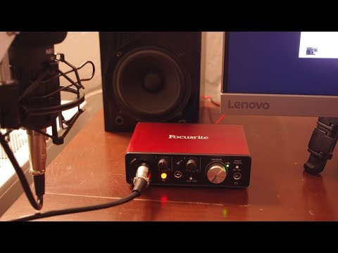 Basic Unboxing, Driver Install And Testing The Focusrite Solo (using FL Studio)
