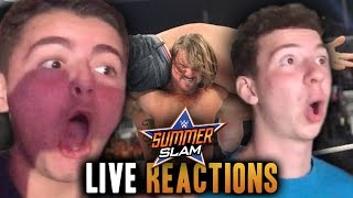 EPIC Live Reactions of WWE SUMMERSLAM 2016! - Universal Championship & AJ STYLES VS JOHN CENA (VLOG)