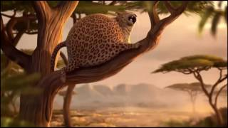 Толстый леопард упал с дерева   Thick leopard fell from a tree